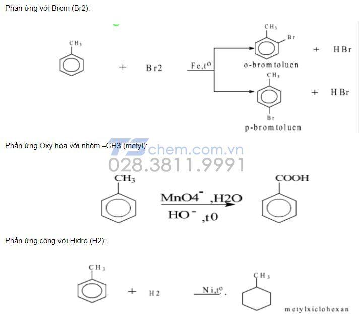 Tính chất hóa học của Toluen như thế nào?